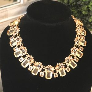 J. Crew Cluster drop stone necklace